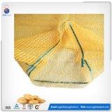 personalizado 25kg PE Sacos Raschel para embalagens de produtos hortícolas