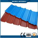 Couleur de haute qualité à faible prix ondulé recouvert de tôle de toit