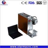 Macchina di plastica dura eccellente della marcatura del laser della fibra del metallo dell'anello di 20W 30W 50W