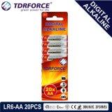 1.5V Digital alkalische Batterie-trockene Batterie mit BSCI (LR6-AA 12PCS)
