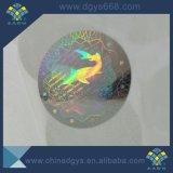 Безопасности Silver лазерный наклейки в настраиваемые формы