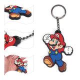 최신 판매 Mario 3D PVC 고무 사기질 열쇠 고리