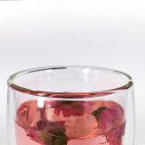 耐熱性二重壁のホウケイ酸塩ガラスジュースのティーカップ