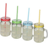 100% aufbereitete Glasoberseite der Trommel-480ml mit Plastikstroh