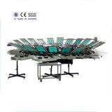 24의 색깔 큰 회전 목마 스크린 인쇄 기계