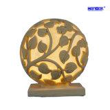 Patrón de la flor de bola de piedra arenisca de la escultura de la luz de linterna LED para jardín