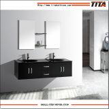 Armário de casa de banho da Bacia de vidro temperado para duas pessoas T9001d