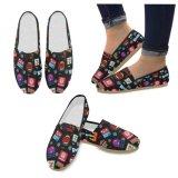 La mode des chaussures de toile femmes Sneaker Drop Shipping Factory Pour imprimer Feuillet occasionnel à la demande sur les femmes Chaussures Chaussures personnalisées