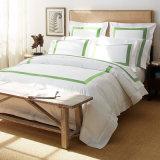 ヨーロッパデザイン100%年の綿の白い羽毛布団カバー寝具(JRD769)