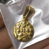 ネックレスかブレスレットP1002のために吊り下げ式鋼鉄宝石類の宗教硬貨の形の奇跡的なメダル