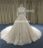 Красивый кружевной шарик платье в шее Backless свадебные платье