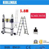 ladder van het Aluminium van 1.9+1.9m de Dubbele Zij Telescopische
