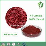 Extrato vermelho do arroz do fermento de 3% Monacolin K Funtion, nenhuma citrinina