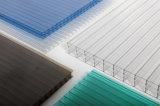 Polycarbonate bleu de Quatre-Mur Dix ans de garantie de cavité de feuille de Sun pour la serre chaude