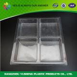 Wegwerfhaustier-Plastiktyp Nahrungsmittelgebrauch-Plastiktellersegmente mit Fächern, Eis-Würfel-Tellersegment