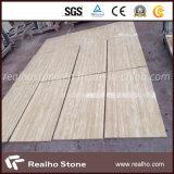Mattonelle beige del marmo del travertino per il rivestimento della parete e le mattonelle di pavimentazione