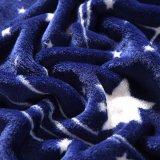 Coperta adulta del panno morbido della flanella di Minky della stella blu dei commerci all'ingrosso