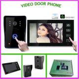 Дверной звонок горячего телефона двери сбывания беспроволочного видео- видео- с экраном касания 1vs1