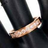 공장 직매 여자를 위한 움츠린 로즈 금 주문 반지