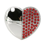 Metal Diamond Heart 2.0 USB Flash Memory Stick una unidad USB