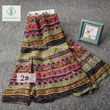 Мода вискоза шарфом Богемии стиль печати Бич шаль на заводе