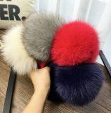 Шлем Snapback Knit Родител-Детей с большим Pompom шерсти Fox