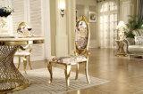 Luxuxentwurfs-Rosen-goldener Edelstahl-moderner speisender Stuhl