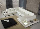 LED 빛 (HC1010)를 가진 새로운 현대 가정 하얀 가죽 소파