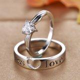 Insieme dell'anello dell'argento sterlina dell'amante di modo