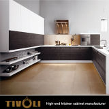 Gabinetes de cozinha brancos de Fingerpull com o console para os edifícios Tivo-0009V de Austrália