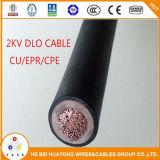 2kv Single Core Cu étamé/EPR/CPE Câble 2/0AWG DLO