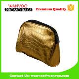 Signora cosmetica Girl Bag della borsa dell'oro del coccodrillo del cuoio genuino dell'unità di elaborazione di Hotsell per il partito