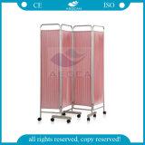 8つの車輪の鉄骨フレームの病院用ベッドスクリーンのカーテンが付いているAGSc001