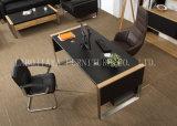새로운 나무로 되는 가죽 PVC 현대 사무실 책상 (V30)