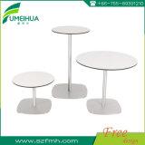 Tableaux ronds faits sur commande de restaurant de stratifié de blanc