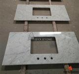 Witte Marmer Opgepoetste Countertop van Carrara voor Keuken en Badkamers