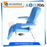 Silla manual de la colección de la sangre de la silla ajustable del brazo