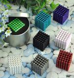esferas magnéticas de NdFeB do Neodymium do chapeamento niquelar de 216PCS 5mm