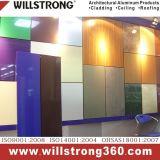 Panneau composé en aluminium de finissage métallique de couleur pour le mur rideau