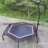 Mini trampolino esagonale con il trampolino di forma fisica dei cavi di ammortizzatore ausiliario per il randello di salto adulto