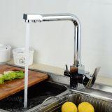 Flg 3 Kranen van de Keuken van de Hefboom van de Kraan van het Water van de Manier Dubbele
