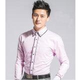 Overhemden van Oxford van de Kokers van de Formele kleding van de Kleur van mensen de Roze Lange