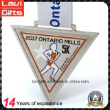 직접 공장 5k 10k 삼각형 마라톤 스포츠 금속 메달