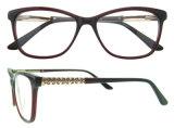 Marco óptico de Eyewear del acetato de los vidrios del acetato material más barato de China