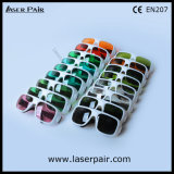 Alto nivel de protección de 200-540nm y 900-1100nm láser Gafas de seguridad/ Gafas de protección láser YAG y de la línea de 2 Ktp con bastidor 36