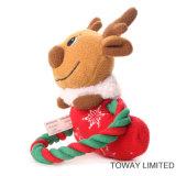 Productos para perros de Navidad Flocked Rope Animal Pet Plush Toys