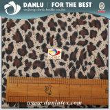 Elastisches gestricktes Gewebe mit dem Leoparden gedruckt