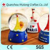 販売のためのカスタムエッフェル塔の記念品の雪玉のギフト