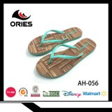 EVA de madera suave popular para señora Summer Beach Slipper