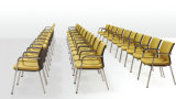 黒く及び黄色の現代デザインドイツの会議の椅子